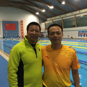 潘佳章,中国国家游泳队教练。  Pan Jia Zhang, Chinese national swimming team coach.